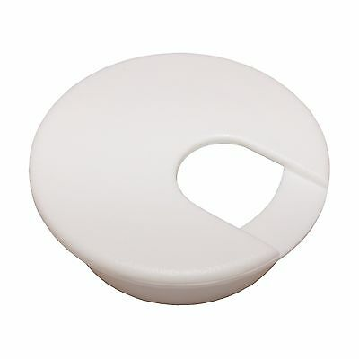 """1 Desk Cord Cable Wire Grommet White 2"""" #1035"""