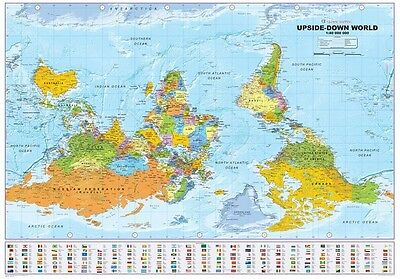 Political World Atlas upside down Horizontal Format 39x27 5/8in 100067