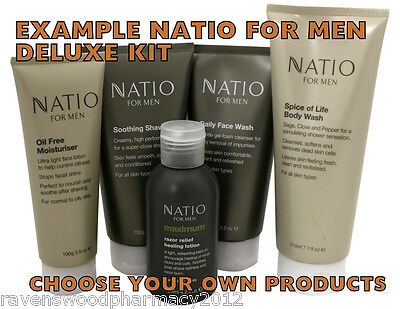 Natio For Men Five Piece DELUXE KIT = CHOOSE YOUR OWN PRODUCTS!