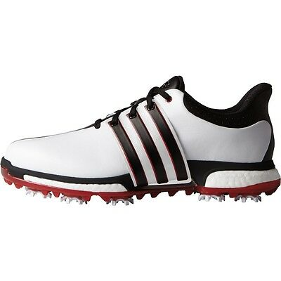 2016 Adidas TOUR360 BOOST Mens Golf Shoes Medium White/Black/Red