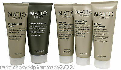 Natio For Men FACE CARE KIT = Face Scrub OR Wash PLUS Choice of Face Moisturiser