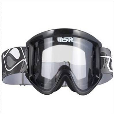New Msr Motocross Goggles Black Youth Size