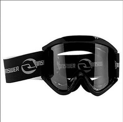 New Answer Racing Motocross Goggles Black Youth Size
