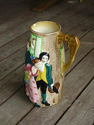 "Vintage Burleigh Ware Art Pottery Pitcher "" Sally In Our Alley "" Large Size Jug"