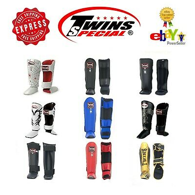 Twins Special Muay Thai Boxing Kick Boxing Shin Guard Protection S M L XL