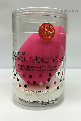 Beauty blender Foundation Make Up Pink Sponge With Mini Solid Cleanser