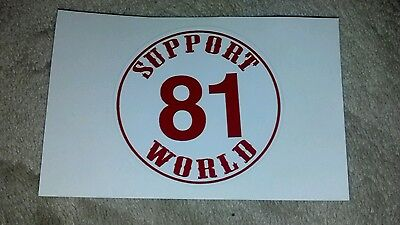 "Hells Angels Support Sticker ""81 World"" 3.5"" Circle"