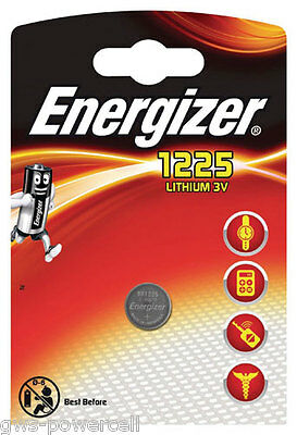 2 x Energizer  Batterie BR 1225 Lithium 3V Knopfbatterie CR 1225 Battery Blister