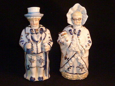 RARE Delightful Pair of Antique Victorian Staffordshire Nodding Figures, c1880.
