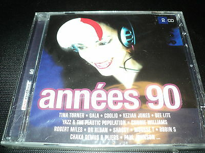 """COFFRET 2 CD NEUF """"TWOGETHER - ANNEES 90"""" 30 tubes / Lady, 49 ers, Gala, ..."""