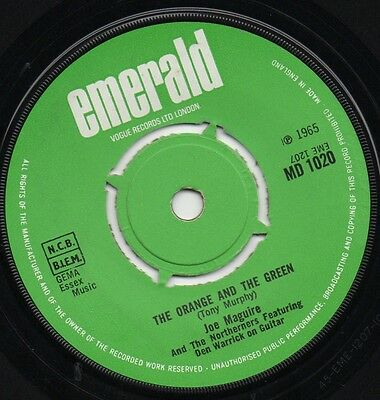 JOE MAGUIRE the orange and the green 1965 UK EMERALD IRISH FOLK 45
