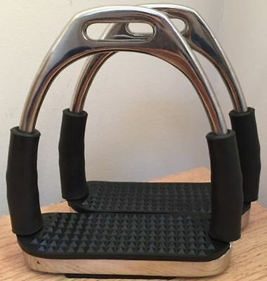 New Stirrups Iron Steel Flexi Safety Bendy Horse Riding Equestrian. Code SS