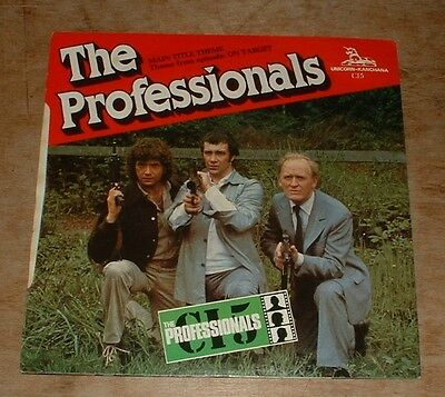 LAURIE JOHNSON the professionals*the new avengers 1980 UK UNICORN PS 45 TV THEME