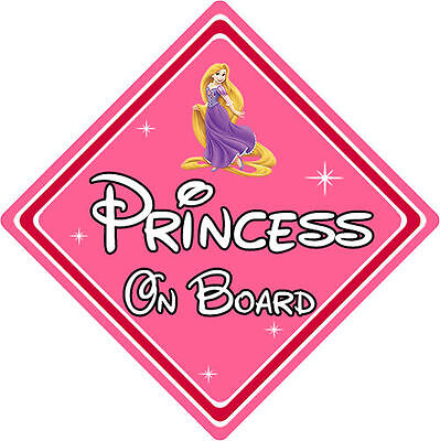 Disney Princess On Board Car Sign – Baby On Board Car Sign Rapunzel From Tangled