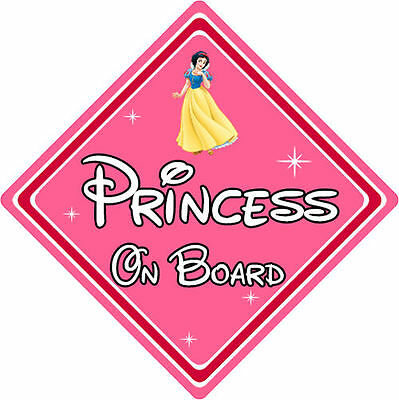 Disney Princess On Board Car Sign – Baby On Board Car Sign – Snow White