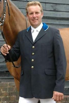 Tagg William Funnell Navy Show Jacket with Velvet Collar