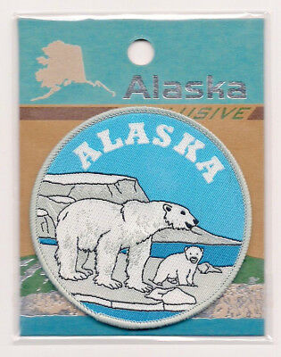 Souvenir Patch  - State Of Alaska - Polar Bears