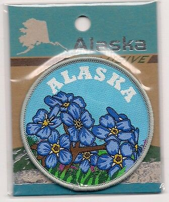Souvenir Patch  - State Of Alaska - State Flower