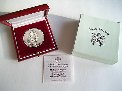 1994 Vatican Italy Musei Vaticani Michelangelo Medal Silver Coin papers + Box