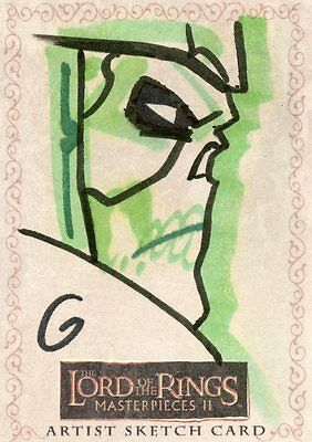 Topps Lord Of The Rings Masterpieces Ii Artist Sketch Card By Grant Gould