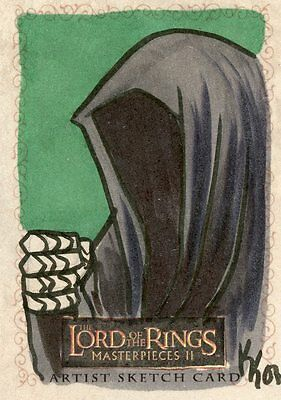 Topps Lord Of The Rings Masterpieces Ii Artist Sketch Card