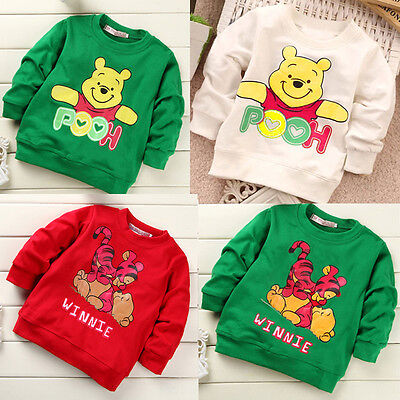 Infant Baby Girls Boys Winnie Weenie the Pooh Top Clothes T-shirt Tops Shirts