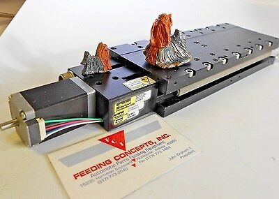 "Parker MX80s 6"" Travel Linear Motor Stage Roller Bearings servo + Encoder Limits"