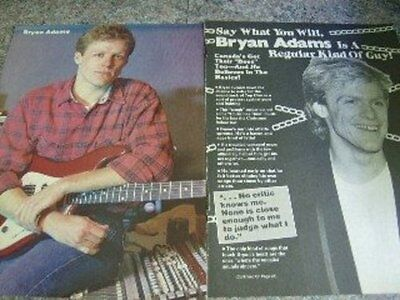 Bryan Adams Clipping Pack -Rare Graffiti Oct 1985 & Canadian Newspapers, German,