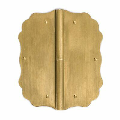 """CBH Chinese Brass Large PROFILE Hinges 4.3"""" - Set of 2"""