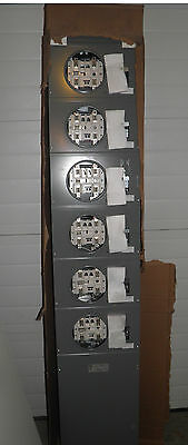 Square D Schneider Electric 750 A 6 Station Meter Center MC54L New