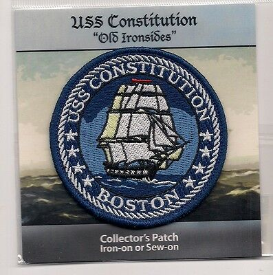 "Souvenir Patch - The Uss Constitution, Boston Massachusetts - ""old Ironsides""."