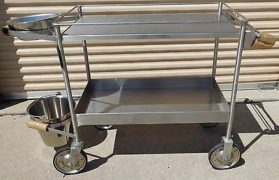 Suburban Surgical Co., Dressing Carts w/Castered Wheels Bucket Basin Shelves New