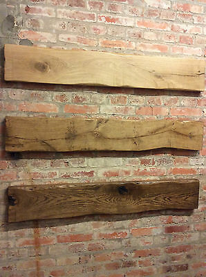 Solid Oak Floating Fire Mantle Fascia Beam Rustic Country Cottage Wood Stove