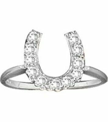 Kelly Herd Large Channel-Set .925 Sterling Silver Horseshoe Ring