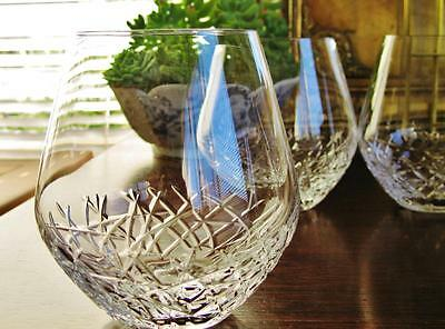 High quality Boxed FMF Bohemia Crystal stemless wine/ tumbler 520ml , set of 4.