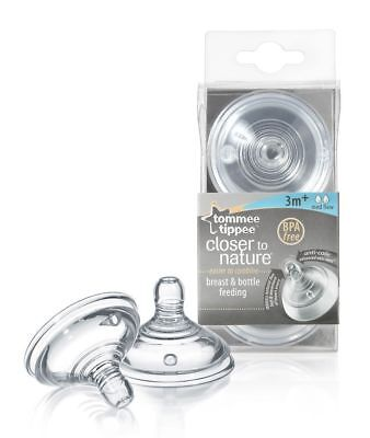 Tommee Tippee Closer to Nature MEDIUM Flow Teats - 3m+