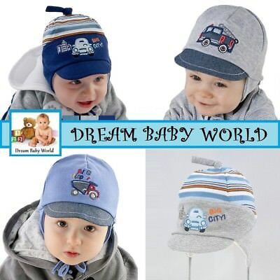 Cotton boys hat with lining 9 - 24 Months 2 - 3 Years BABY BOY CAP spring KIDS