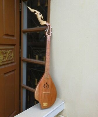 Phin Guitar Thai Classic Musical Traditional Acoustic Instrument Isarn 3 Strings