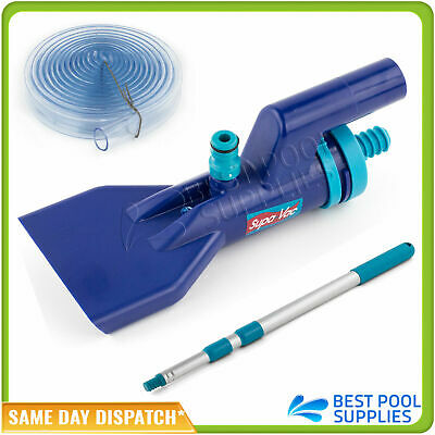 Supa Vac / Supavac Spa Pond Fountain Venturi Vacuum Cleaner W. Telescopic Pole