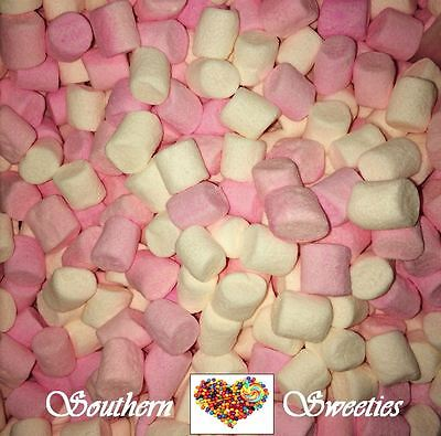 Pink & White Mini Marshmallows 600G Lollies Bulk Candy Buffet Mallows Cake