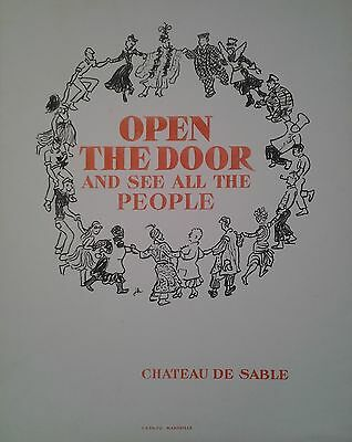 affiche film indépendant open the door and see all the people J. Berto/677
