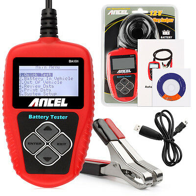 ANCEL BA101 Auto Battery Charging Tester Cranking Lead Acid Battery AGM