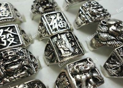 5pcs Vintage Tibet silver Men's Rings Wholesale lots jewelry New free shipping