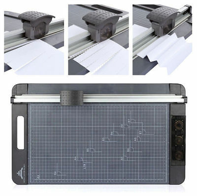 Professional Paper Cutter Machine Size A3 To B7 Guillotine Page Trimmer 12 Sheet