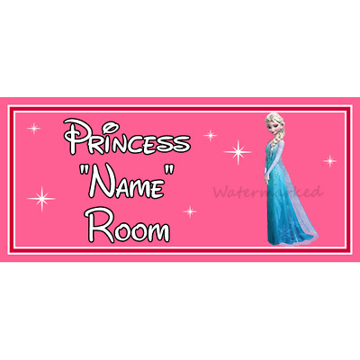 Personalised Disney Princess Kids Bedroom Door Sign  – Elsa From Frozen