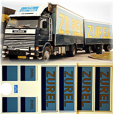 1:87 Truck Decal LKW Abziehbild NL Scania Emons Transport Holland