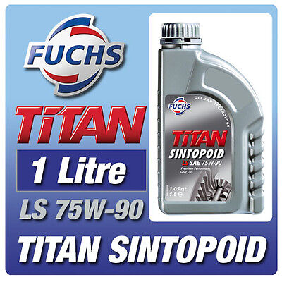 Fuchs Titan Sintopoid Ls 75W-90 1 Litre Synthetic Gear Oil Limited Slip Lsd