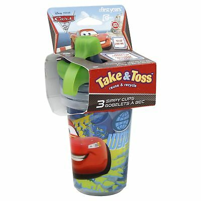 First Years Y9294 10 Oz Cars Take & Toss Sippy Cup,No Y9294