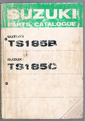 Suzuki Ts 185 B Ts 185 C Parts Manual First Edition Oct 1977 Used Condition