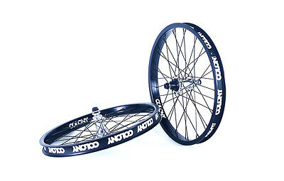 """Colony 20"""" Wheel Set BMX Black Pintour Rim With POLISHED Wasp Hubs Right Drive"""
